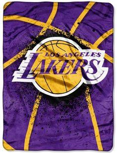 Los Angeles Lakers Blanket 60x80 Raschel Shadow Play Design