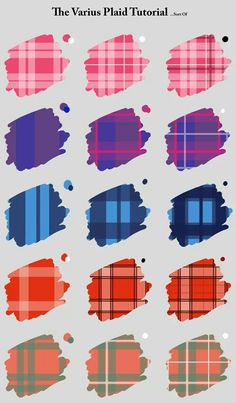 The Various Plaid Tutorial by ColletteRen on DeviantArt Drawing Reference Poses, Drawing Skills, Drawing Poses, Drawing Techniques, Drawing Tips, Digital Painting Tutorials, Digital Art Tutorial, Art Tutorials, Coloring Tutorial