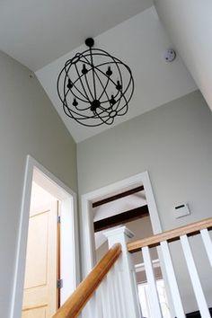 Light fixture over stair.