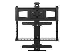 monoprice above fireplace pull down full motion tv wall mount 40 to - Sanus Full Motion Tv Wandhalterung