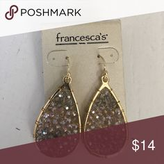 Brand new! Francesca's drop earrings Brand new, never worn! Francesca's beaded drop earrings. About 2 inches in length. Francesca's Jewelry Earrings