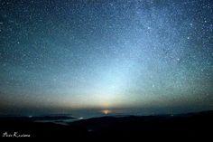 Airglow, Zodiacal Light, Milky Way Taken by Piotr Koziana on September 8, 2016 @ Połonina Wetlińska, Bieszczady, Poland