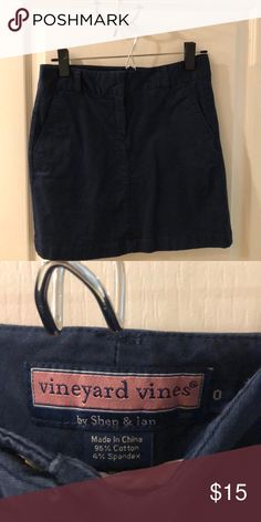 44c831d4997fc Vineyard vines classic navy skirt In very good condition! Wore only 3-4  times