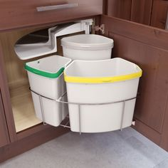 Oko Center 3 Bin Waste/Recycling Center (#9000 3715) by Vauth Sagel | Shop & Save at CabinetParts.com