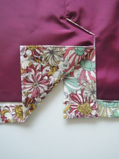 How to sew a back pleat with a lining