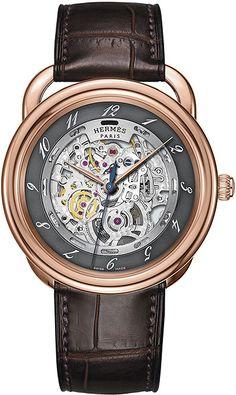 hermes arceau watch   038016WW00 Hermes Arceau Squelette Automatic TGM 41mm Mens Watch