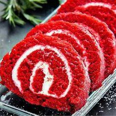Gâteau roulé red velvet