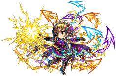 Zeus Whip Orna Brave Frontier, Amazing Art, Minions, Chibi, Fantasy Art, Cool Art, Buddha, Battle, Witch