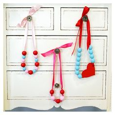 DIY valentine's day necklaces for little girls