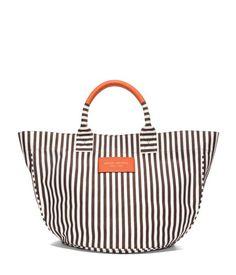summer beach tote bags - stripe canvas beach tote | henri bendel $78