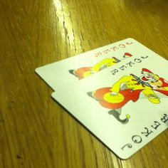 Playing cards in school.