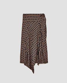 41457899 GEOMETRIC PRINT SKIRT-Midi | ZARA United Kingdom Rock, Printed Skirts, Fall  Winter
