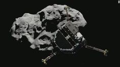 So what does a space probe do after landing on a comet? Take a nap, the European Space Agency says