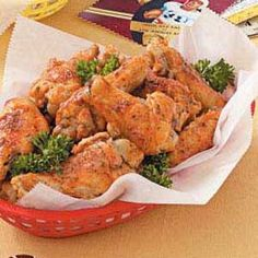 """Spicy Ranch Chicken Wings Recipe- Recipes """"My mother gave me this recipe more than 10 years ago,"""" writes Tracy Peters of Corinth, Mississippi. """"Since then, I've made these lip-smacking wings for all different occasions. Buffalo Ranch Chicken, Great Recipes, Favorite Recipes, Delicious Recipes, Yummy Food, Slow Cooker, Chicken Wing Recipes, Recipe Chicken, Fried Chicken"""