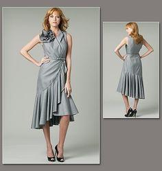 Vogue 1232 Robe , créateur Pamella Roland, tailles 34 à 40 et 42 à 48