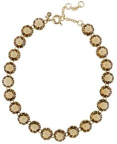J.crew Crystal Sparkle Necklace in Gold