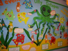 Olly Octopus -  Bulletin Board that teaches odd and even numbers