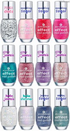Spring 2014: Essence Nail Polish Collection - Effect Nail Polishes