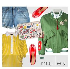 """""""MULES"""" by jacknthebeansdog ❤ liked on Polyvore featuring Isabel Marant, Neera, Dondup, AG Adriano Goldschmied and Anya Hindmarch"""