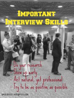 Important interview skills - even the basics need to be remembered!