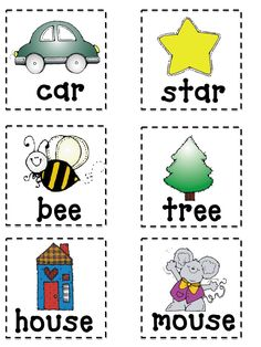 Rhyming game - can play as a group game. then add to a center later