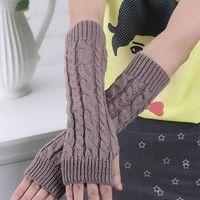 Item: Gloves Materials: cotton, acrylic Colors: 11 colors free size ( Length:29-30cm Width:6cm )