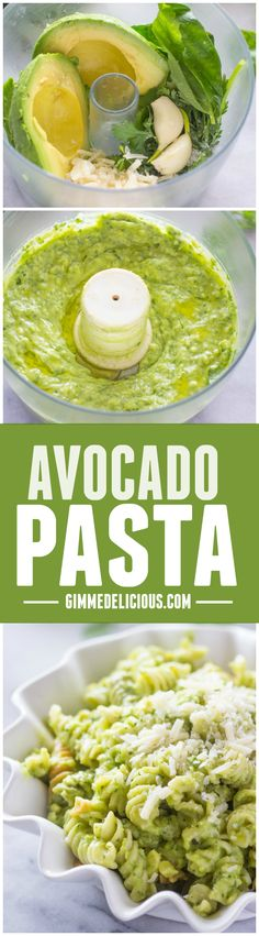 You Have Meals Poisoning More Normally Than You're Thinking That The Best Avocado Pasta Gimme Delicious I Love Food, Good Food, Yummy Food, Vegetarian Recipes, Cooking Recipes, Healthy Recipes, Cheese Recipes, Pasta Sauce Recipes, Recipe Pasta