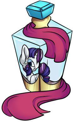 Rarity's Bottle by CutePencilCase.deviantart.com on @DeviantArt