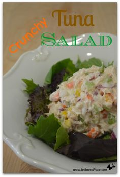 Crunchy Tuna Salad - a delicious and satisfying way to add more vegetables to your diet!  Get the recipe at www.tootsweet4two.com.