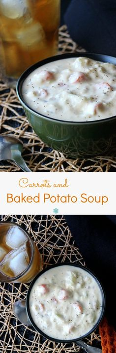 Baked Potato Soup is hearty, creamy, easy and this recipe is a little different. Plant-based and carrots are added for just a hint of sweetness.
