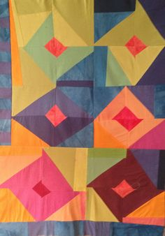 improv quilt by kimkoloski, via Flickr