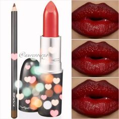 Fall Lip Recipe  Lip Liner: Mac - Chestnut Lipstick: Mac - Ruby Woo I added a little bit of Carmex on top for a tiny shine. - @aurevoirxo- #webstagram