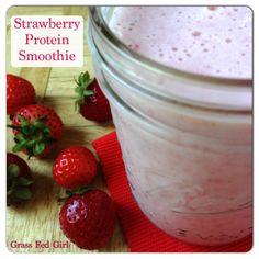 Healing Strawberry Gelatin Protien Smoothie (Dairy and Gluten Free)