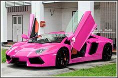 Pink Lamborghini Aventador~My dream car :) Lamborghini Aventador, Fancy Cars, Cute Cars, Maserati, Bugatti, My Dream Car, Dream Cars, Aston Martin, Pink Ferrari