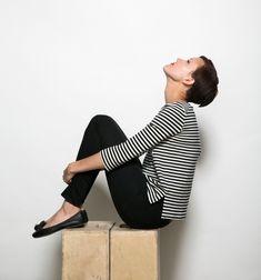 Breton top and ballerina flats - foolproof combo