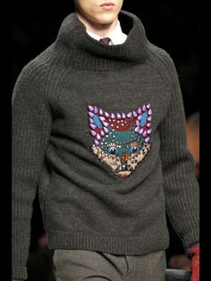 Fox. Burberry Prorsum Fall 2012. I know it's a mens jumper, but I really want it!