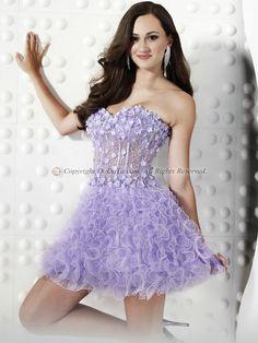 Princess Organza Strapless Sweetheart Short/Mini Lace-up Crystal/Rhinestone Ruffles Cocktail/Prom Dresses, Cocktail Dresses, Prom Dresses, Buy From China, China Wholesale