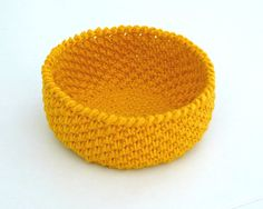 ***THIS LISTING IS FOR A CROCHET BASKET PATTERN IN PDF FILE, NOT A FINISHED PRODUCT*** Simple, quick and easy project. This pattern is written using American terms. Skill level EASY/BEGINNER. You will need to know: - How to read a pattern. - How to do basic crochet stitches. - How to crochet in the round. You will need: - Crochet hook size 5mm and 4.5mm (US size H8 and 7) - Bulky weight yarn or 12ply yarn - Tapestry needle - Scissors Finished Size: : 2.5(7cm) height, 5(13.5cm) in dia...