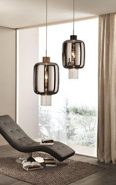 Direct light blown glass pendant lamp DOLIUM   Pendant lamp - Cangini & Tucci