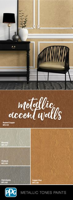 Looking to give your entryway a grand entrance? These Metallic Tones tintable paints will leave a sleek, luminous finish available in 42 curated colors. Color Combos, Color Schemes, Grand Entrance, Architectural Elements, House Painting, Paint Colors, Home Improvement, Entryway, Sweet Home