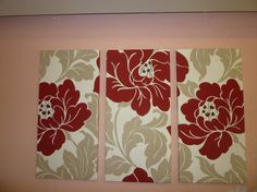 This funky fabric Tall Tryptych Wall Art set is made using quality canvas-weight cotton fabric.