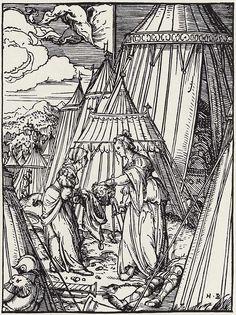 Artist: Burgkmair d. Ä., Hans, Title: Judith im Zeltlager des Holofernes, Date: 1515