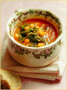 chickpea cumin (vegan) soup Source by Veggie Recipes, Soup Recipes, Cooking Recipes, Healthy Recipes, Moroccan Chickpea Soup, Middle East Food, Salty Foods, Vegan Soup, Soup And Salad