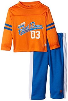 RBX Baby Boys 2 Piece Long Sleeve Shirt and Pant Set First Down Orange 24 Months -- Details can be found by clicking on the image.Note:It is affiliate link to Amazon.