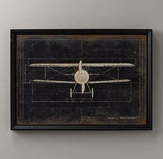 Model G Airplane Blueprint | Wall Art | Restoration Hardware Baby & Child