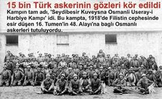 """Kimse niye Seydibeşir soykırımından söz etmez? Sözde Ermeni Soykırımını duymayan kalmadı da, merak ediyorum acaba duymuşluğunuz var mı """"Seydibeşir Kuveysna Osmani Useray-ı Harbiye Kampı Soykırımını?"""" Nasıl duymazsınız yahu! Filistin Cephesinde, Birinci Dünya Savaşı'nda İngilizlere esir düşen 16. Tümen'in 48. Alayı'na bağlı 15 bin Osmanlı askeri bu kampta, salt Türk oldukları için öldürüldü! Kamp komutanları İngiliz'di. Çevirmenleri, yani esirlerle konuşmalarını sağlayanlarsa Ermeni. (Bknz…"""