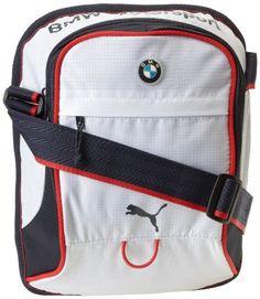 8a085d0eb41d Amazon.com  PUMA BMW Motorsport Portable Messenger Bag White Medieval Blue  One Size  Messenger Bags  Clothing