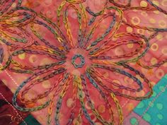 embroidering over patchwork Types Of Embroidery, Embroidery Ideas, Hand Embroidery, Fiber Art, Needlework, Stitching, Applique, Textiles, Friends
