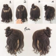 51 Trendy Hair Tutorial Short Messy 51 Trendy Hair Tutorial Short Messy The post 51 Trendy Hair Tutorial Short Messy appeared first on Hair Styles. Short Hair Styles Easy, Cute Hairstyles For Short Hair, Trendy Hairstyles, Medium Hair Styles, Braided Hairstyles, Curly Hair Styles, Short Hair Tutorials, How To Style Short Hair, Styling Short Hair Bob