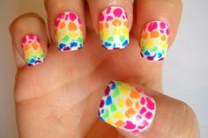 lisa frank nail art